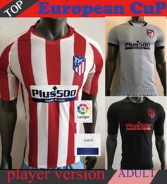 Camiseta de fútbol de color negro online-versión del reproductor 2020 2019 nuevo adulto inicio de color rojo negro de distancia kit 19 20 Camiseta de fútbol Fútbol