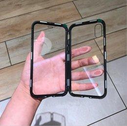 capa de telefone celular duplo Desconto Caso de telefone móvel de vidro magneto de dupla face, ouro vermelho preto Apple 8plus metal frame tampa do telefone celular iphone xr para homens