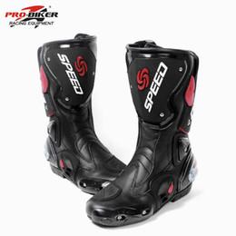 Motosiklet Ayakkabı Spor Motokros Bisiklet Uzun Çizmeler Off-Road Yarış Dişliler Moto AccessoriesParts EUR 40-45 Pro-Biker B001 cheap pro parts nereden profesyonel parçalar tedarikçiler