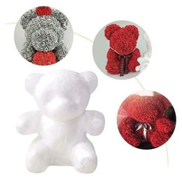 2019 espuma bola de natal enfeite 1 Pcs 200mm Modelagem de Poliestireno Isopor Foam Bear White Craft Bolas para DIY Decoração de Festa de Natal Suprimentos Ornamentos desconto espuma bola de natal enfeite