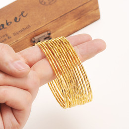 2019 afrikanische goldarmbänder großhandel Bangrui Großhandel Gold Farbe äthiopischen Armreif Armreif afrikanischen Frauen Schmuck Gold Dubai großen Kreis Armreifen rabatt afrikanische goldarmbänder großhandel