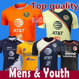 da53094a5 Thailand 2019 Mexico LIGA MX Club America Soccer Jerseys Home 18 19  Apertura A18 CAMPEON Third Xolos de Tijuana Chivas Tigres football shirt