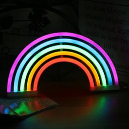 sinais de luz busch Desconto LED Neon Lâmpada Tubo de Luz Estrela Lua Relâmpago Novidade USB Lâmpada de Energia Da Bateria de Decoração Para Casa Luminária Iluminação de Cabeceira