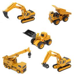 commandes de grue à distance Promotion RC Voiture 1:64 Télécommande Construction Voiture Mini Excavatrice Simulation Modèle Ingénierie Pelle De Voiture Jouet Grue Bulldozer