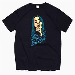 2019 magliette morbide in cotone mens Billie Eilish Streetwear T Shirt Mens Tshirt in cotone morbido maglietta Homme Fashion Cantante Harajuku da uomo magliette morbide in cotone mens economici