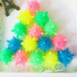 5 cm bolas de lavandería de colores sólidos en forma de estrella de mar en forma de bola de lavado de PVC Bolas de lavadora reutilizable Bolas para la limpieza de ropa desde fabricantes