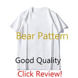 2019 chicos rock tees MS para hombre diseñador de la camiseta del patrón de lujo del oso camisetas para hombre de la moda de impresión de manga corta 2020 de moda del verano de las mujeres camiseta 2colors mayorista