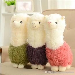 baby boy llaveros Rebajas Venta al por mayor-1 unids 28 cm dibujos animados caliente encantadora Alpaca ovejas de peluche de juguete de la decoración de la habitación de moda relleno creativo juguetes de peluche regalos del niño