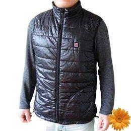7.4 V 4200mAh электрический обогрев жилет мужчины мягкая оболочка водонепроницаемый ветрозащитный зимние лыжи снег спортивная одежда тепловой теплый Весте мужские черный от