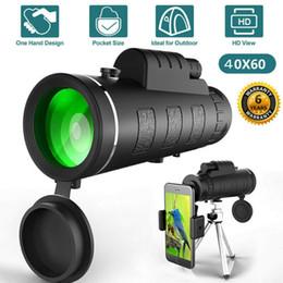 lente de zoom 12x teléfono móvil Rebajas Marca nuevo estilo 40X60 lente óptica de alta definición telescopio monocular del trípode clip para el universal del teléfono