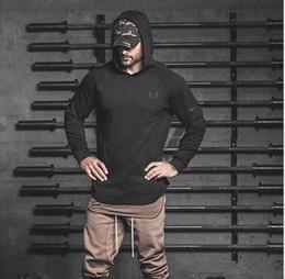 Sobretudo europa on-line-2019 gym Nova Moda Europa e Nova América Outono e Inverno Esportes Capa, sobretudo dos homens, chapéu de Fitness Roupas Suéter de Ginástica