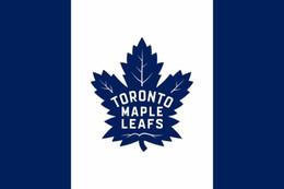 Mannschaftsflaggen online-Toronto Maple Leafs Fahne 90 x 150 cm Polyester Kanada Hockey Team Banner