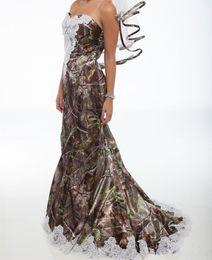 2019 vestidos de novia estilo trompeta vintage Venta caliente más nuevo 2019 vestidos de boda baratos de sirena camo con apliques moldeados satinado vestido de fiesta de bodas largos vestidos de novia AL43