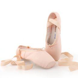 76e063057 ballet flats dance shoes NZ - Pointed Shoes Bandage Ballet Dance Shoes Girl  Professional Canvas Satin