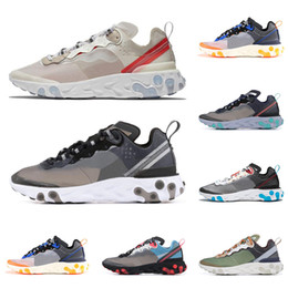 cb78dc07c7 Epic React Element 87 Undercover running shoes for men women white black  NEPTUNE GREEN blue mens trainer breathable sports sneakers