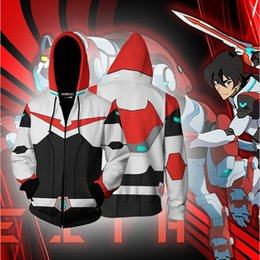 cosplay hoodies zipped Promo Codes - BIANYILONG 2019 New Autumn Winter 3D print Keith Voltron Legendary Defender Cosplay Zip Up Hoodie Jacket clothing
