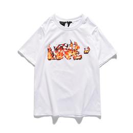 amici del logo Sconti Vlone 19ss Uomo Donna Moda Camicie Designer Mens Hip Hop Streetwear Vlone cotone Amici manica corta Big V Logo donne di skateboard Tees