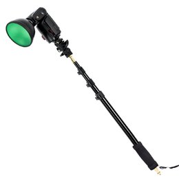 "Soporte de godox online-ight boom pole stick Godox -S13 21-63\"" 55-160cm Portable Light Boom Pole Stick 1 4\"" Male Thread Photography Bracket for WITSTRO Flash A..."