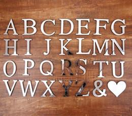 sinais da sala de escritório Desconto Removível 3d casa adesivos de parede acrílico inglês letras algarismos arábicos diy adesivos de parede com superfície do espelho