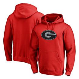 Georgia Bulldogs Static Logo Pull Sweatshirt rouge à capuche, acceptez les États-Unis foodball, baseball, hockey, équipes de basketball, livraison gratuite ? partir de fabricateur
