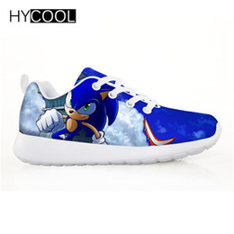silver sonic Promo Codes - HYCOOL Children Shoes For Kids Boys Sonic the hedgehog Flat Sneakers Outdoor Sports Running Shoes Chaussure Enfant Garcon Fille
