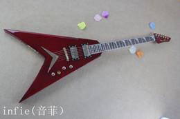 Livraison gratuite 2019 nouveau style personnalisé DEAN Flying V cerise rouge Sunburst ébène Ftretboard guitare électrique matériel d'or!! ? partir de fabricateur