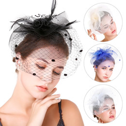 2021 headwear fascinator Bridal Fascinator Bridal Headwear Flowers Feather Beads Hair Veil Womens Womens Party Accessory GAI headwear fascinator economici