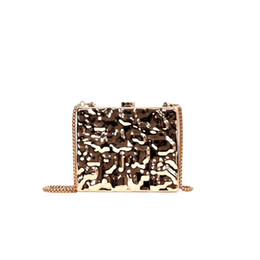 mini handbags Coupons - Vintage Handbags Women gold Clutches PVC chain messenger bag Mini Party Evening Purse Silver Bags wedding Party box handbags