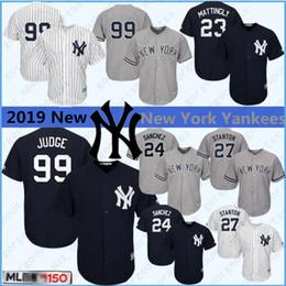 Derek jeter jerseys online-99 El juez Aaron 2019 New Yankees, Derek Jeter 2 Nueva Jersey York Stanton 27 7 3 Manto Ruth Sánchez de calidad superior 24 jerseys del béisbol