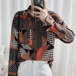 Camisa Hombre coréenne hommes Vêtements 2020 Couleur de la fleur Lattice Chemise à manches longues Streetwear Hip Hop CHEMISE étape Costumes Voir