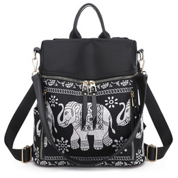 Shoulder Bag Women Backpack Elephant-Print Travel Rucksack Hand Bag Girls Daypack Female Durable Travel Backpack 2019 Fashion supplier girls backpacks elephants от Поставщики девочки слоны рюкзаки