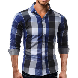 5f1b9c9a3e5 Luxury Mens Classic Plaid Long Sleeve Shirt Formal Casual Smart Slim Fit  Businese Smart Stylish Tops
