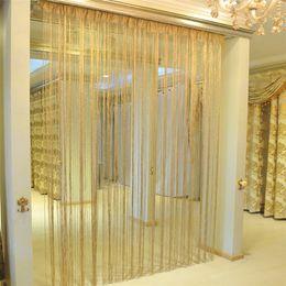 decorazione flash Sconti Tenda della finestra Shiny Nappa Flash Argento Linea String Cortina Divisorio per Porte Decorazione Della Casa 528 #