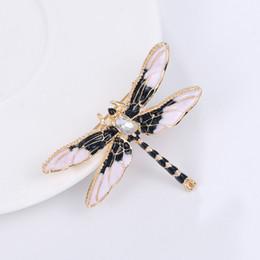 libelle stifte schmuck Rabatt Kristall Vintage Libelle Broschen für Frauen Große Insekt Brosche Mode Kleid Mantel Zubehör Niedlichen Schmuck