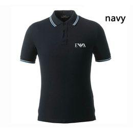 Спортивная рубашка-поло онлайн-Дизайнерский бренд EA рубашки поло Мужские летние мужские рубашки Толстовка Mens Moletom Masculino Новейший дизайн Спортивные футболки размер s-3xl