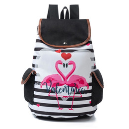 Discount canvas high school girl backpack - High Capacity Women Female  Canvas School Backpack Cartoon Drawstring 0419a4d3a0a8b