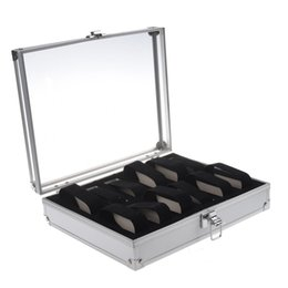 2021 uhren schaufenster Aluminum 12 Wristwatch Watch Showcase Display Storage Case Box