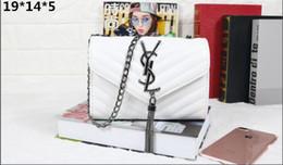 Metal y on-line-HOT New Designer homens mulheres PU bolsa de ombro saco de escola Crossbody bag marca de moda saco de peito bolsa corrente de Metal cinta YSL alta qualidade