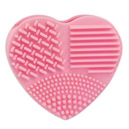 Nuovo caldo silicone tipo cuore silicone moda guanti strumento di pulizia Maquiagem per rondelle cosmetiche strumenti per la spazzolatura delle uova da