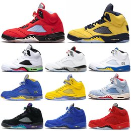 nike air jordan retro 5 heiße Luft Jordan Retro 5 Laney Royal 5s Herren Basketball Schuhe Trophäe Zimmer Wildleder Blau Oregon Ducks Metallic Gold