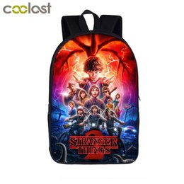 kids color books Coupons - cartoon stranger things backpack for teenager girls boys book bags hawkins demogorgons children school bags kids backpack