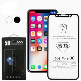 2019 iphone6 ​​glasabdeckung 5d für iphone x xr xs max 5d gehärtetes glas gebogene displayschutzfolie für iphone6 ​​6s 7 8 plus x edge full cover film 3d edge