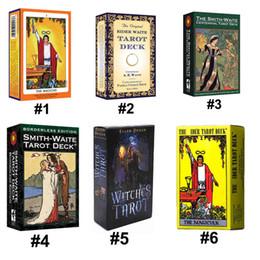 6 стилей Tarots Witch Rider Smith Waite Волшебник Колода карт Таро Настольная игра с красочной коробкой Английская версия от