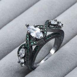 2019 ouro de zircónio Heat Pin New Ring Chapeamento Black Gold Zircon Ornamentos. Sobreposição de 5 Zirconium Stone Fashion Ring ouro de zircónio barato