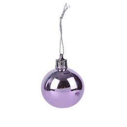 2019 palla di natale ornamento viola 20 pezzi / scatola albero di natale appeso palla ornamenti festival matrimonio viola sconti palla di natale ornamento viola