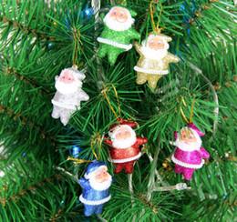 muñecas de santa claus Rebajas Colgante Santa Claus Decoración Roja Navidad Santa Muñeca Adorno de árbol de Navidad Colgante Santa Claus Muñeca Juguete Decoración de Navidad DBC VT0749