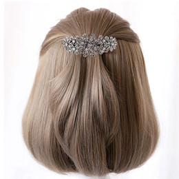 2019 срок службы контактов 2шт женщины зажим для волос Кристалл фантазии цветок аксессуары для волос Pin для банкета повседневной жизни вечер свадьбы дешево срок службы контактов