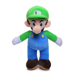 """Brinquedos de super mario plush on-line-2 Estilo 10 """"25 CM MARIO LUIGI Super Mario Bros Boneca De Pelúcia Brinquedos De Pelúcia Para O Bebê Bons Presentes EEA424"""