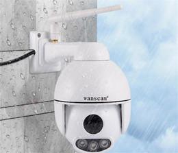 2019 ptz óptico HW0054 Al aire libre PTZ 5X Zoom óptico 1080P IP WiFi Cámara domo de seguridad ONVIF P2P Visión nocturna impermeable IP66 rebajas ptz óptico