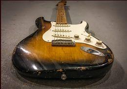 Guitarra elétrica de edição limitada on-line-Em pré-encomenda Custom Shop Limited Edition Eric Johnson, Maple Fingerboard, 2 cores Sunburst Relic guitarras elétricas